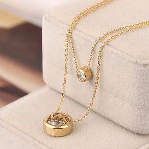 Michael Kors double layer necklace